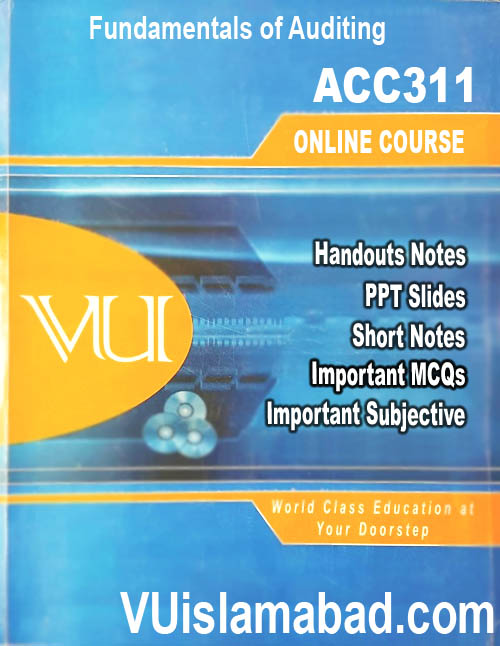 ACC311Fundamentals of Auditing ACC311 - Fundamentals of Auditing