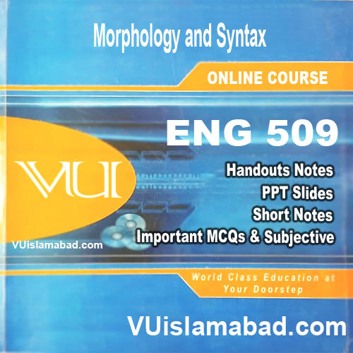 ENG509Morphology and Syntax