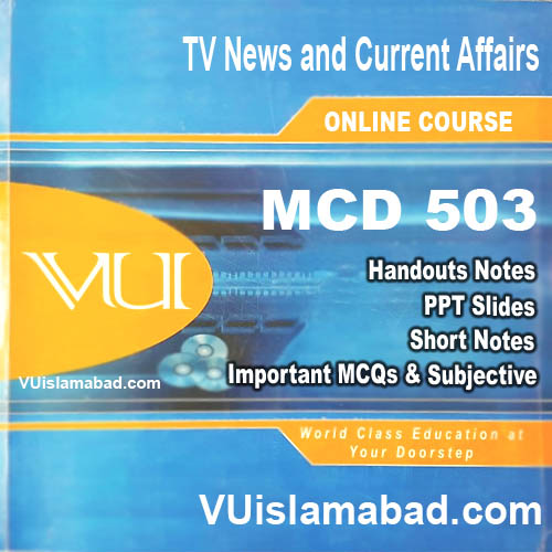MCD503 TV News and Current Affairs