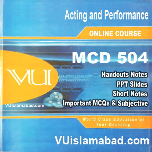 MCD504 Acting and Performance